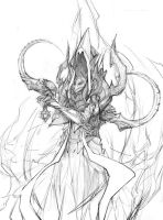 Malthael Sketch by paperpixy
