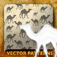 Vector Patterns. Camel by paradox-cafe