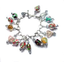 For sale - Lampwork charm bracelet by MyArtself