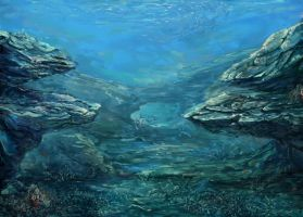 Underwater, sea landscape by Konsuello