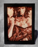 Deadly Beauty - Cross Stitch Framed by shingorengeki