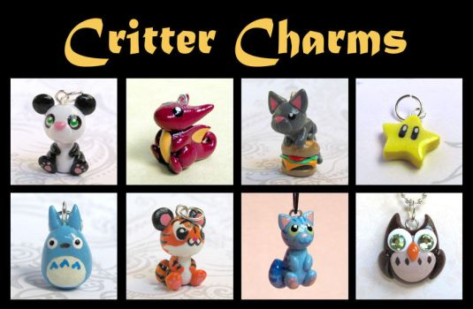 Critter Charms by DragonsAndBeasties