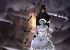 Dracula and Mina- The Wedding. by Villenueve