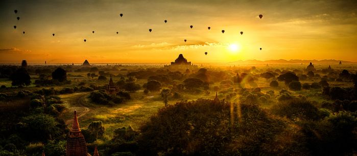 Bagan Sunrise by scwl