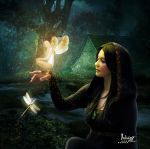 Druidess in harmony with nature by Julianez