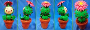 Lil Cactus from Legend of Mana by LayzeMichelle