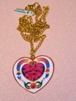 Cosmic heart compact necklace sailor moon by kouweechi