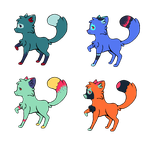 Fox Adopts! (Open) PRICE REDUCED!!! by Mint-Adopts