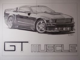 05 Mustang GT by SketchesByChris
