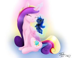 Cadence and Her Favorite Doll - (Collab) by Emerlees
