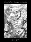Monster Month - Day 21 - Bowser by RtRadke