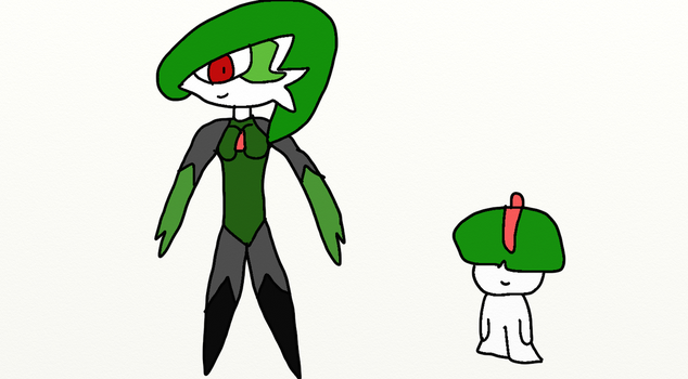 Elick the Gardevoir and Ralts by Wolf-The-Absol