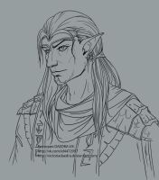 Dunmer_Dres____lineart by VictoriaDAEDRA