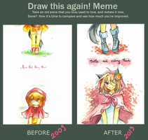 Draw this again! Meme by LabJusticaholic