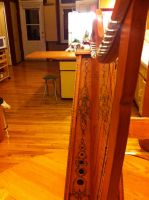 Celtic Harp Pyrography 2 by fanfreluche3567