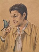 Cas and a butterfly by blacktsubu