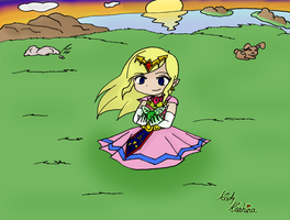 Princess Zelda -Hyrule Field by iZelda27