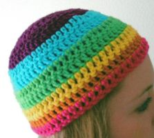 Rainbow Beanie by getmetogradschool
