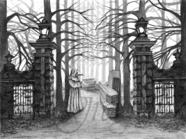 The Plague Cemetery by Greyfell-Fine-Art