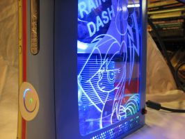Rainbow Dash Custom Xbox 360 by Nightowl3090