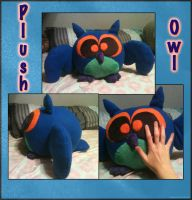 Big Blue Owl Plush by Dragowl