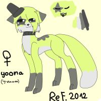 Yoona-New Fursona Reference 2012 by KittyForEvar