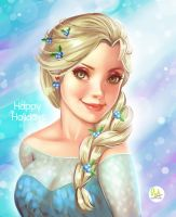 Happy Holidays Fanart Elsa by Didi-Esmeralda