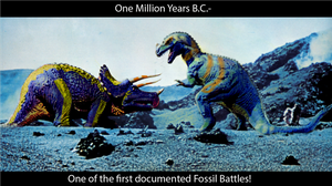 One million B.C. Fossil fight! by Scratts