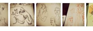 Bus Sketches by stottt
