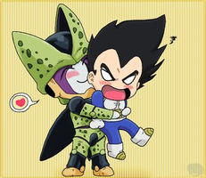 Vegeta and Cell . by DBpictures