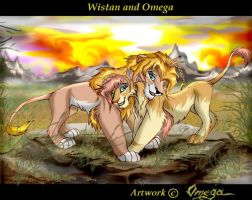 Wistan and Omega by OmegaLioness