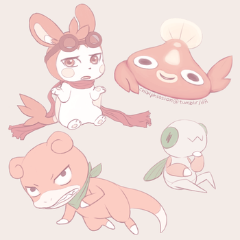 PMD-E doodles by chibiphlosion