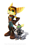 Ratchet and Clank by BloomTH