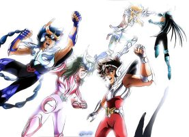Saint Seiya - Bronze Five - Final by Iso-pI