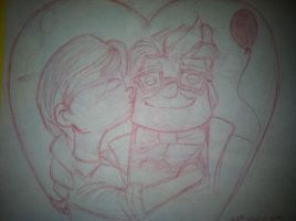 Sketch 23: Carl and Elli  7/16/12 by pascalscribbles
