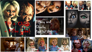 Chucky and Tiffany wallpaper by thedarkenedkeeper