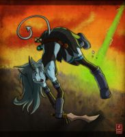 Tiefling under fire by Sylvant