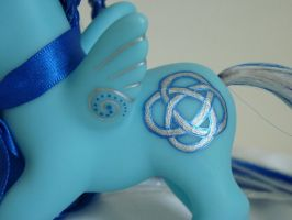 custom my little pony celtic blue 3 by thebluemaiden