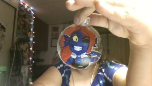 Undyne ornament by inupuppy1412