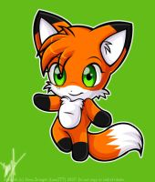 .::Cute Chibi Foxy::. by luna777