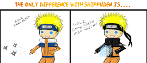 The Difference with Shippuden by tomatojoy