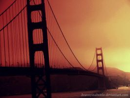 Golden Gate by Jeannyinabottle