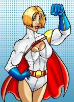 Buff Power Girl by mrfuzzynutz