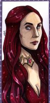 Melisandre bookmark by lubyelfears