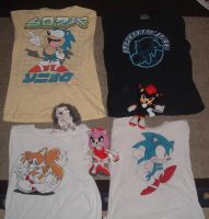 My Sonic Shirts by KaiThePhaux