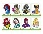 Sketchcards Set 03 Colour by dino-damage