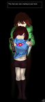 NINGENTALE FRISK AND CHARA(you feel your sins...) by CarrilRego