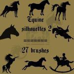 Equine Silhouettes 2 by rL-Brushes