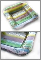 Fused glass plate 3 by Faeriedivine