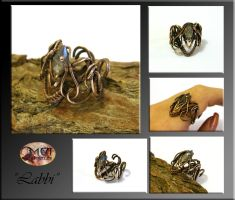 Labbi- wire wrapped ring by mea00